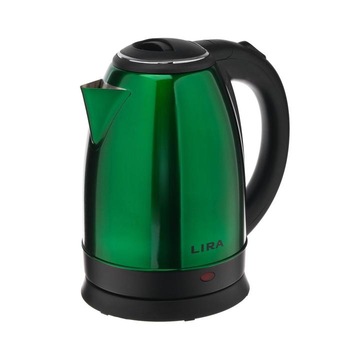 Чайник электрический LIRA LR 0122, металл, 1.8 л, 1800 Вт, зелёный