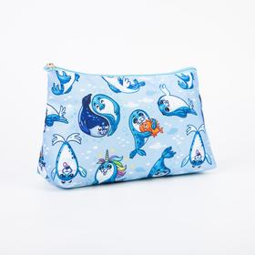 A simple cosmetic bag, 23*7*13, otd without zipper, without lining, seals