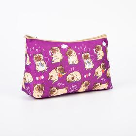 A simple cosmetic bag, 23*7*13, otd without zipper, without lining, pugs