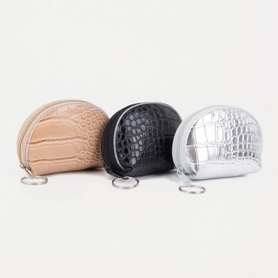 "Women's wallet 13-01-01, 9,5*2*7, ""Crocodile"", zippered otd, mix"