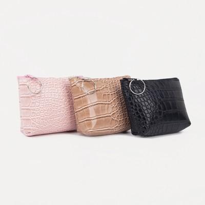 "Women's wallet 13-01-01, 10,5*2*8, ""crocodile"", zippered otd, mix"