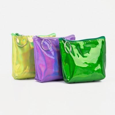 "Women's wallet 13-01-01, 10,5*2*8, ""Shine"", zippered otd, mix"