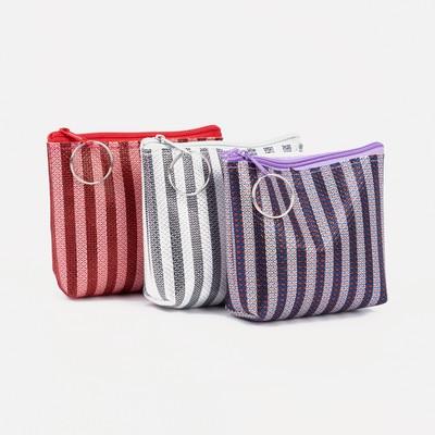 """Women's wallet 13-01-01, 10,5*2*8, """"Stripes"""", zippered otd, mix"""