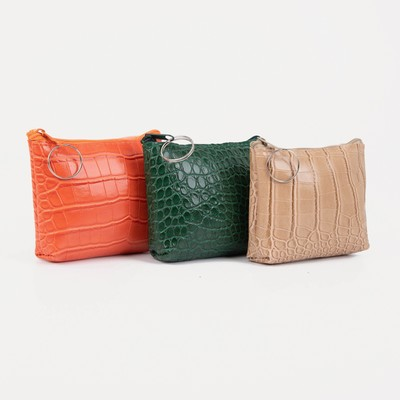 "Women's wallet 13-01-01, 11,5*3*9, ""crocodile"", zippered otd, mix"
