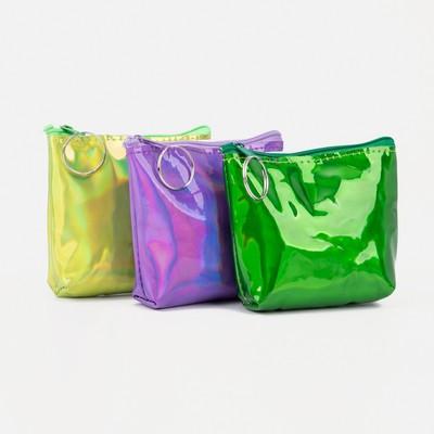 "Women's wallet 13-01-01, 11,5*3*9, ""Shine"", zippered otd, mix"