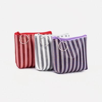 """Women's wallet 13-01-01, 11,5*3*9, """"stripes"""", zippered otd, mix"""