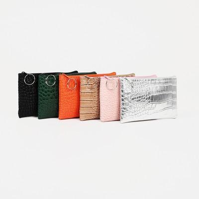 "Women's wallet 13-01-01, 12*0,5*9, ""crocodile"", zippered otd, mix"