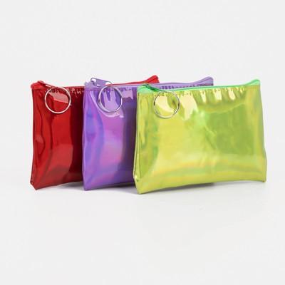 "Women's wallet 13-01-01, 12*0,5*9, ""Shine"", zippered otd, mix"
