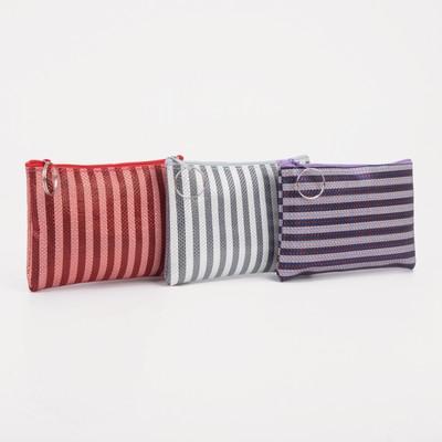 """Women's wallet 13-01-01, 12*0,5*9, """"Stripes"""", zippered otd, mix"""