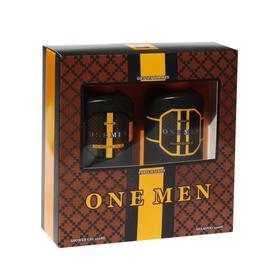 Подарочный набор мужской One Men N 391: шампунь, 250 мл и гель для душа, 250 мл