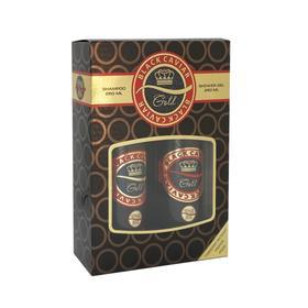 Подарочный набор женский Black Caviar N 801 Gold: шампунь, 250 мл и гель для душа, 250 мл