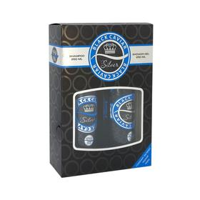 Подарочный набор женский Black CaviarN 811 Silver: шампунь, 250 мл и гель для душа, 250 мл