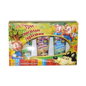 Подарочный набор Festiva «Три Веселых Поросенка» № 731: мыльная краска для ванны, 3х75 мл