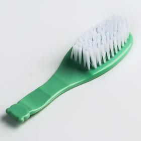 Щетка детская, для ухода за волосами, цвет зеленый