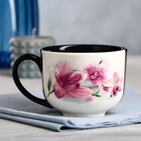 """Чашка """"Букет орхидей"""", 450 мл"""