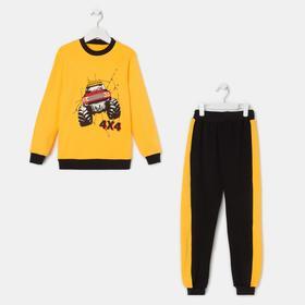 Комплект для мальчика, цвет жёлтый/чёрный, рост 98-104 см