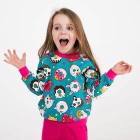 Комплект для девочки, цвет бирюзовый/малиновый, рост 98-104 см
