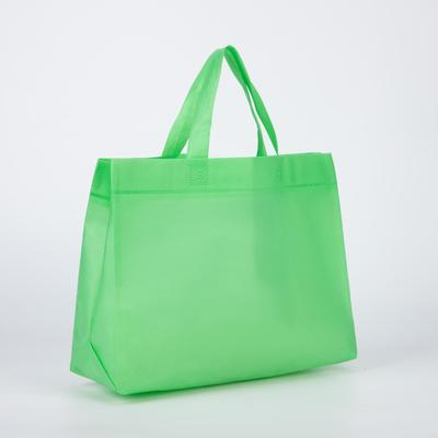 Shopping bag span 3d, 33*11*26, otd without lining, handles 30*2.5 cm, up to 12kg, green