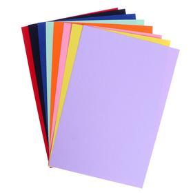 Картон цветной тонированный А4, 8 листов, 8 цветов, 190 г/м2, в пакете