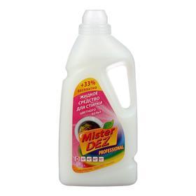 Жидкое средство Mister Dez Eco-Cleaning для стирки цветных тканей, 1000 мл