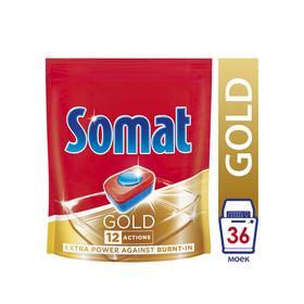 Таблетки для посудомоечной машины Somat Gold, 36 шт