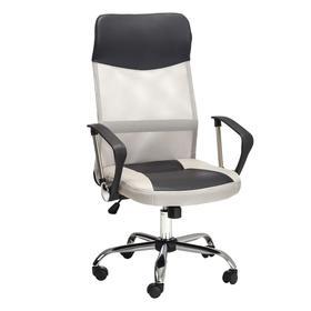 Кресло офисное 8011-MSC, черный/светло-серый