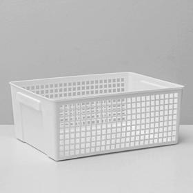 Корзина для хранения YAMADA, 21,5×28,7×11,5 см, цвет белый