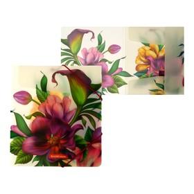 Папка для тетрадей на резинке A5+, 550 мкм, ErichKrause Tropical Flowers, до 300 листов, с рисунком