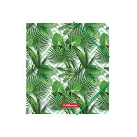 Папка для тетрадей на резинке A5+, 550 мкм, ErichKrause Tropical Leaves, до 300 листов, с рисунком