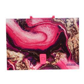 Папка-портфель А4, 1 отделение, 800 мкм, ErichKrause Marble Amethyst, до 350 листов, с рисунком