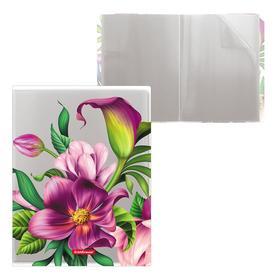 """Папка А4, 20 вкладышей, 550 мкм, ErichKrause """"Tropical Flowers"""", 17 мм, с рисунком"""