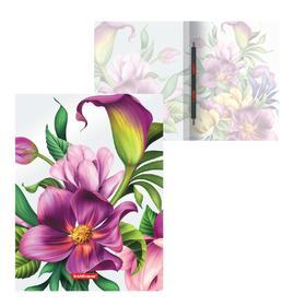 "Папка с пружинным скоросшивателем А4 ErichKrause ""Tropical Flowers"", 17 мм, 550 мкм, с рисунком"