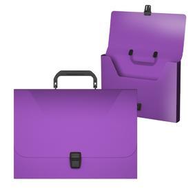 Папка-портфель А4, 1 отделение, 700 мкм, ErichKrause Diagonal Vivid, до 350 листов, фиолетовая
