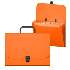 Папка-портфель А4, 12 отделений, 700 мкм, ErichKrause Matt Classic, до 350 листов, оранжевая