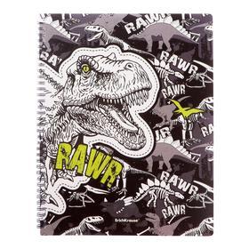 """Папка А4, 20 вкладышей, 550 мкм, ErichKrause """"Dinosaur Park"""", на спирали, с рисунком"""