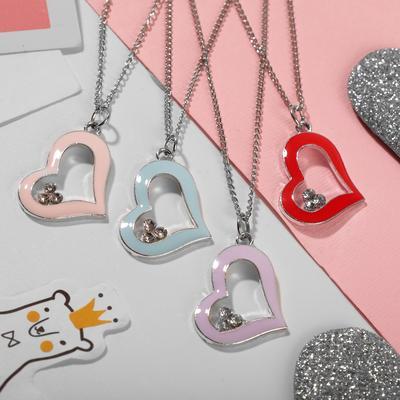 """Pendant children's """"Vibracula"""" heart, MIX color, 40cm"""