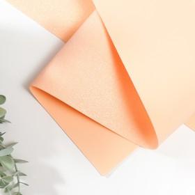 Foamiran glitter 1.8 mm (Peach) 60x70 cm