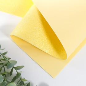 Foamiran glitter 1.8 mm (Lemon) 60x70 cm