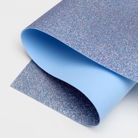 Foamiran glitter 1.8 mm (Pink-blue) 60x70 cm