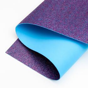Foamiran glitter 1.8 mm (Red-blue) 60x70 cm