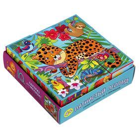 Умные кубики «Пятнистый леопард», 9 штук, в поддончике