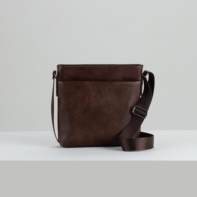 Bag husband A24, 22*6*23, zippered otd, n / a pocket, brown