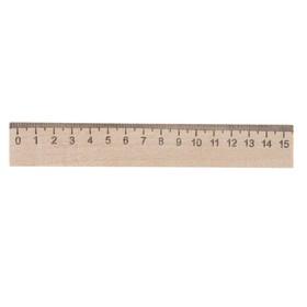 Линейка деревянная 15 см, Calligrata (штрих-код), Россия Ош