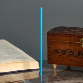 Свечи ритуальные восковые, 18 см, 5 штук, голубые