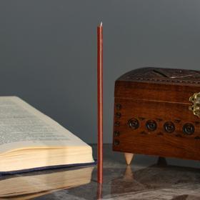 Свечи ритуальные восковые, 18 см, 5 штук, коричневые
