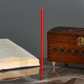 Свечи ритуальные, 18 см, 5 штук, красные