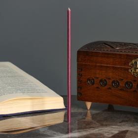 Свечи ритуальные восковые, 18 см, 5 штук, фиолетовые