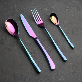 Набор столовых приборов, Magistro «Джентри», 4 предмета, неон