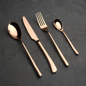{{photo.Alt || photo.Description || 'Набор столовых приборов, Magistro «Джентри», 4 предмета, бронза'}}
