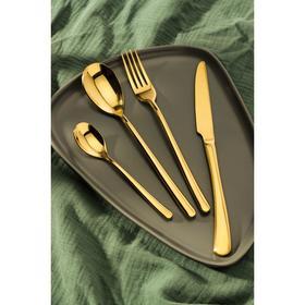 Набор столовых приборов, Magistro «Джентри», 4 предмета, золото
